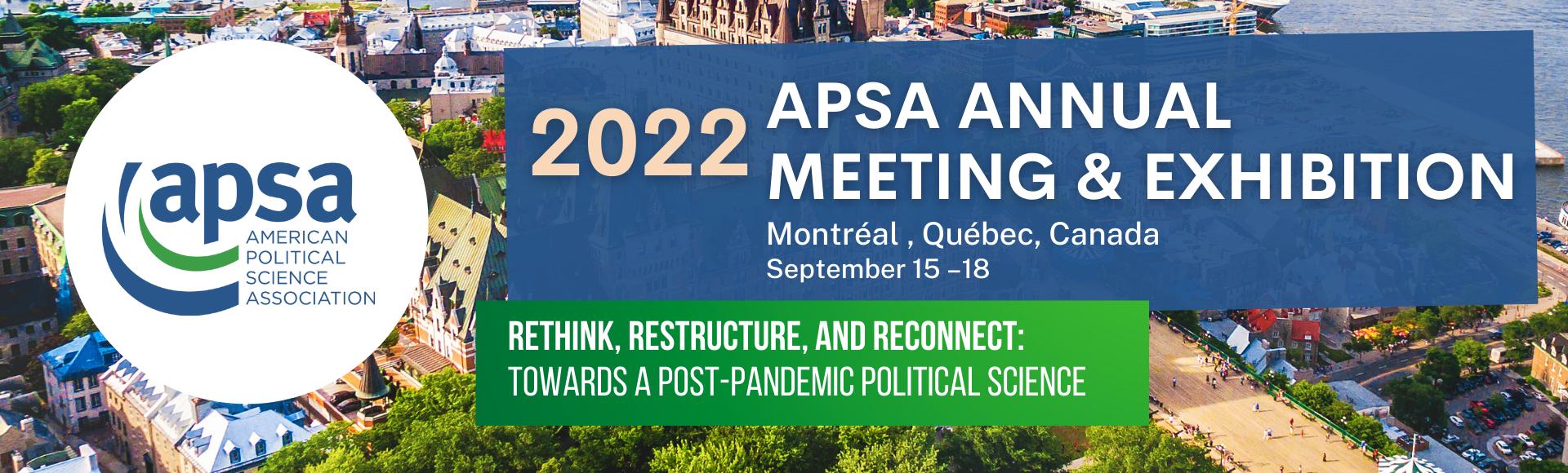 2022 APSA Annual Meeting & Exhibition
