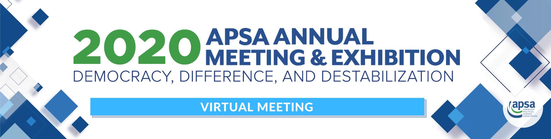 2020 APSA Annual Meeting