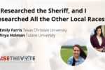 """Thumbnail for the post titled: """"I Researched the Sheriff, and I Researched All the Other Local Races"""""""