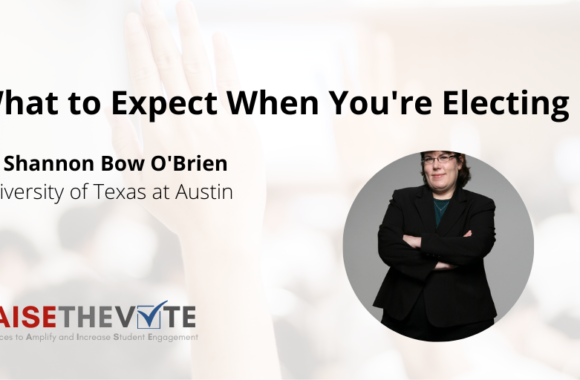 Thumbnail for the post titled: What to Expect When You're Electing