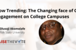 Thumbnail for the post titled: Now Trending: The Changing Face of Civic Engagement on College Campuses