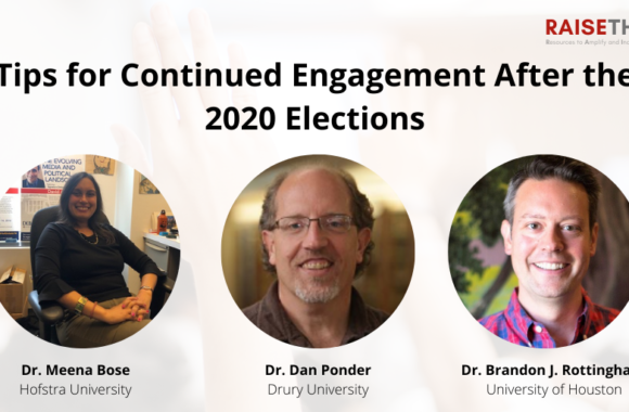 Thumbnail for the post titled: Tips for Continued Engagement After the 2020 Elections