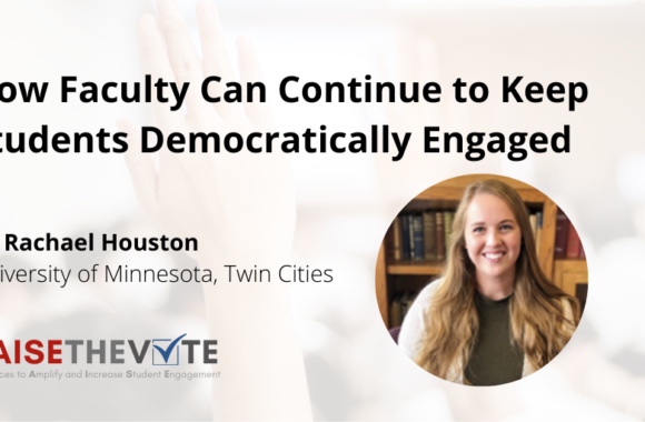 Thumbnail for the post titled: How Faculty Can Continue to Keep Students Democratically Engaged